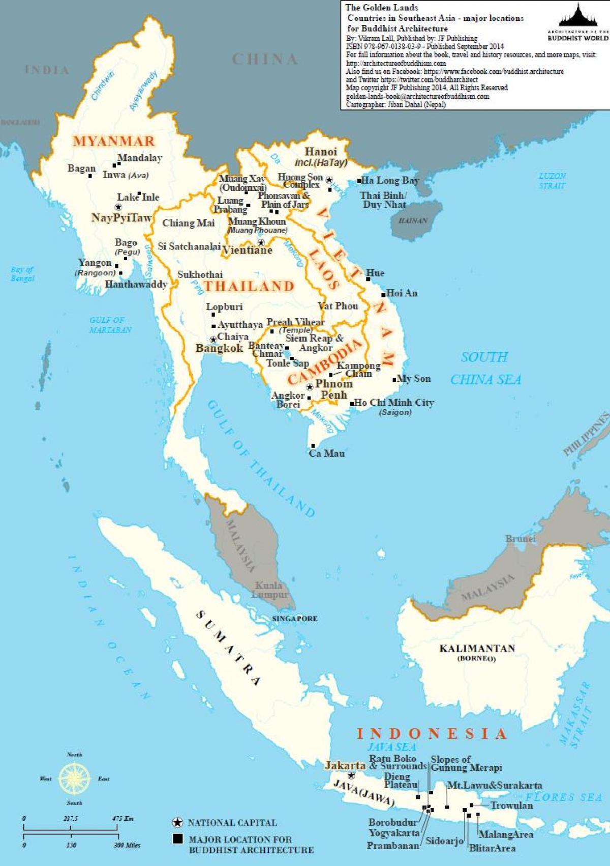 Myanmar Sydost Asien Kort Kort Over Myanmar Sydostasien Syd